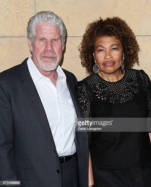 Actor Ron Perlman and wife jewelry designer Opal Perlman attend the premiere of Skin Trade at the Egyptian Theatre on May 6 2015 in Hollywood...