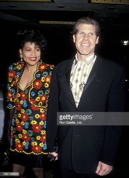 Actor Ron Perlman and wife Opal Stone attend 46th Annual Golden Globe Awards on January 28 1989 at the Beverly Hilton Hotel in Beverly Hills...