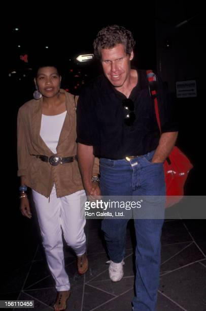 Actor Ron Perlman and wife Opal Stone attend the performance of 'Love Letters' on July 30 1991 at the Cannon Theater in Beverly Hills California