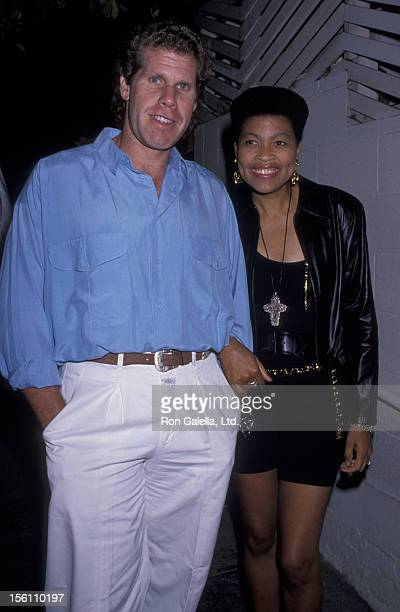 Actor Ron Perlman and wife Opal Stone sighted on July 14 1989 at Spago Restaurant in West Hollywood California