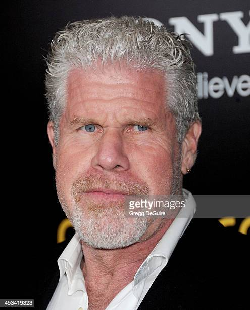 Actor Ron Perlman arrives at the Los Angeles premiere of 'American Hustle' at Directors Guild Theatre on December 3 2013 in West Hollywood California