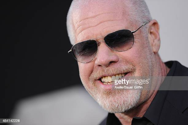 Actor Ron Perlman arrives at the Los Angeles premiere of 'The Expendables 3' at TCL Chinese Theatre on August 11 2014 in Hollywood California