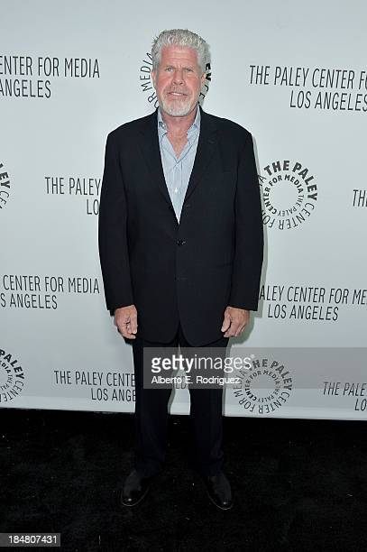 Actor Ron Perlman arrives at The Paley Center for Media's 2013 benefit gala honoring FX Networks with the Paley Prize for Innovation Excellence at...