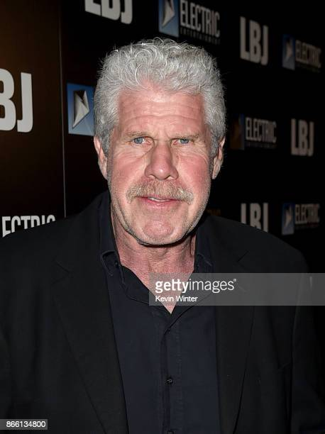 Actor Ron Perlman arrives at the premiere of Electric Entertainment's LBJ at the Arclight Theatre on October 24 2017 in Los Angeles California