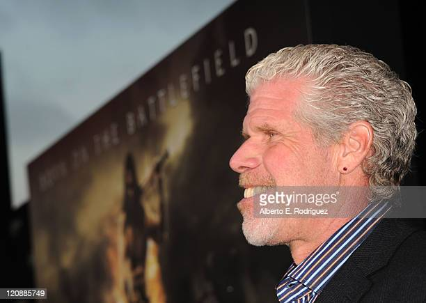 Actor Ron Perlman arrives at the premiere of Lionsgate Films' Conan The Barbarian on August 11 2011 in Los Angeles California
