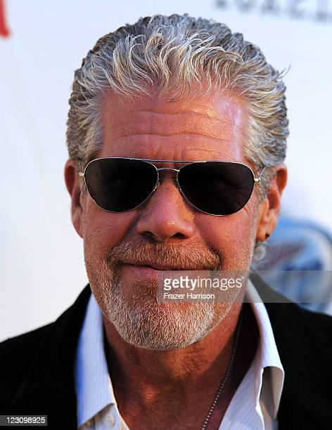 Actor Ron Perlman arrives at the Screening of FX's Sons Of Anarchy Season 4 Premiere at ArcLight Cinemas Cinerama Dome on August 30 2011 in Hollywood...