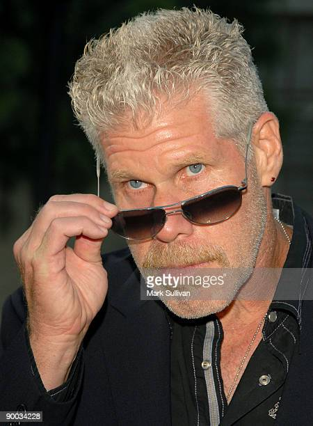 Actor Ron Perlman arrives at the season two premiere screening of Sons Of Anarchy at the Paramount Theater on the Paramount Studios lot on August 23...