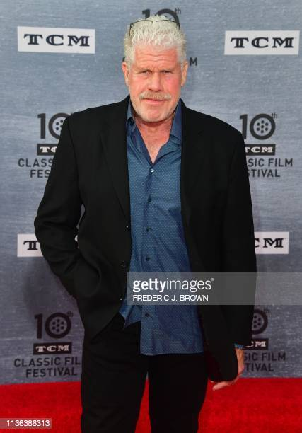 US actor Ron Perlman arrives for the 30th Anniversary Screening of When Harry Met Sally presented as the Opening Night Gala of the 2019 TCM Classic...