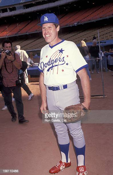 Actor Ron Perlman attends Hollywood AllStars Celebrity Baseball Game on August 17 1991 at Dodger Stadium in Los Angeles California