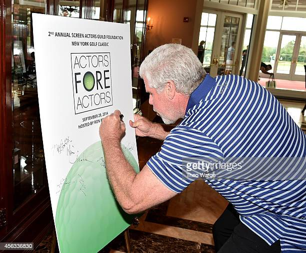 Actor Ron Perlman attends Screen Actors Guild Foundation 2nd Annual New York Golf Classic at Trump National Golf Club Westchester on September 29...