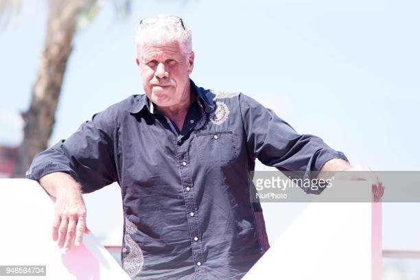 Actor Ron Perlman attends 'Sergio and Sergei' photocall during the 21th Malaga Film Festival on April 15 2018 in Malaga Spain
