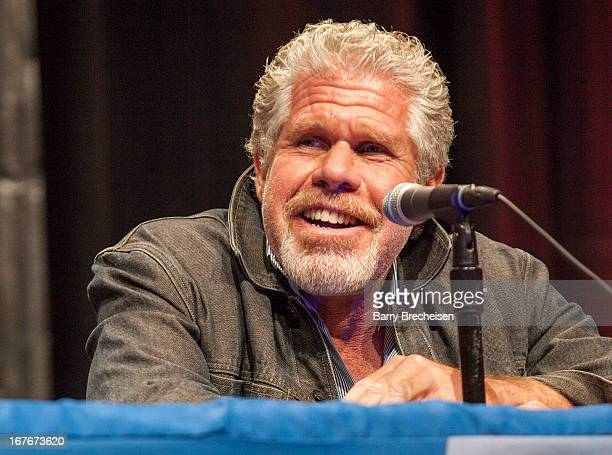 Actor Ron Perlman attends the 2013 Chicago Comic and Entertainment Expo at McCormick Place on April 27 2013 in Chicago Illinois