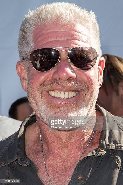Actor Ron Perlman attends the 2nd Annual Boot Ride and Rally at The Happy Ending Bar Restaurant on August 26 2012 in Hollywood California