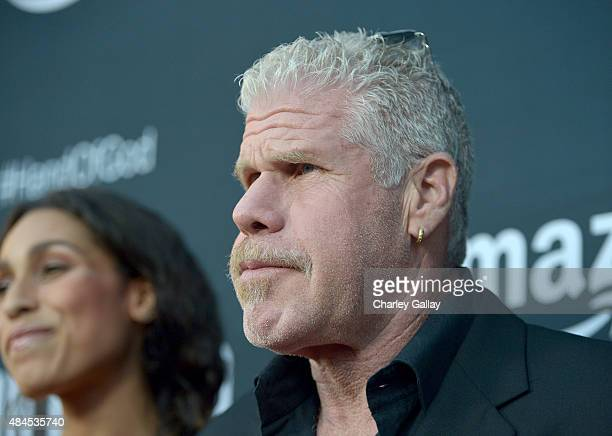 Actor Ron Perlman attends the Amazon premiere screening for original drama series Hand Of God at The Theatre at Ace Hotel on August 19 2015 in Los...