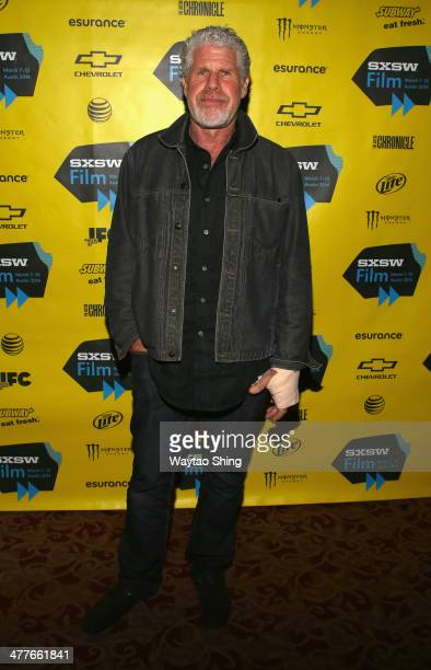 Actor Ron Perlman attends the 'Before I Disappear' Photo Op and QA during the 2014 SXSW Music Film Interactive Festival at Alamo Ritz on March 10...