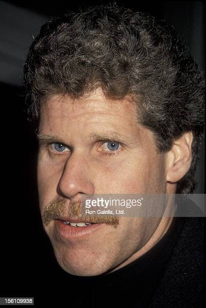 Actor Ron Perlman attends the premiere of 'Queens Logic' on January 31 1991 at AMC 14 Theater in Century City California