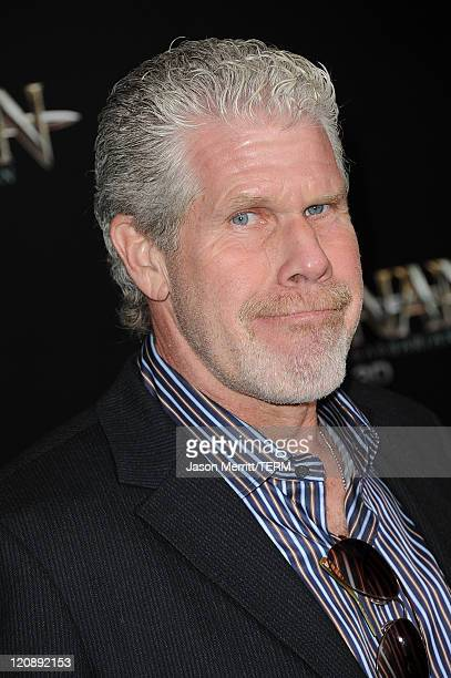 Actor Ron Perlman attends the world premiere of 'Conan The Barbarian' held at Regal Cinemas L.A. Live on August 11, 2011 in Los Angeles, California.