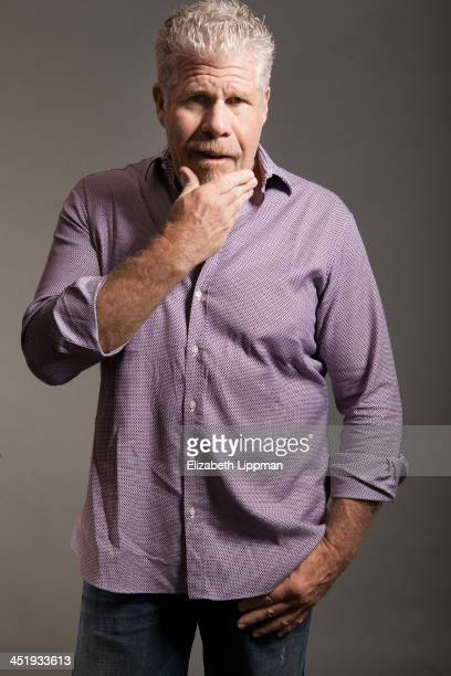 Actor Ron Perlman is photographed for Wall Street Journal on October 8 2013 in New York City Published Image