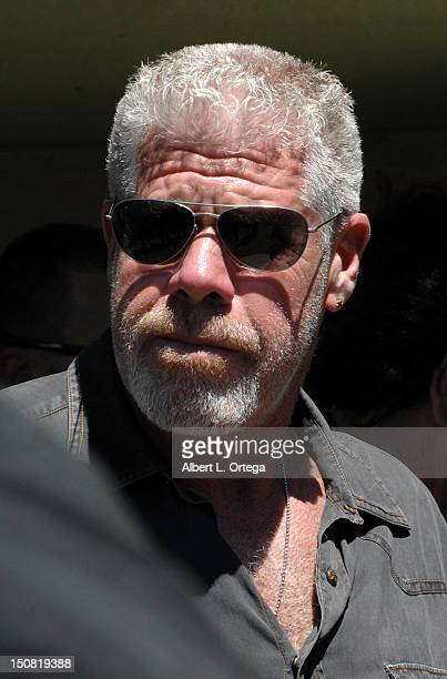 Actor Ron Perlman participates in the 2nd Annual Boot Ride And Rally to benefit US Soldiers on August 26 2012 held in Santa Clarita California