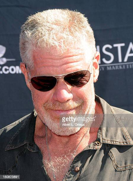 Actor Ron Perlman participates in the 2nd Annual Boot Ride And Rally to benefit US Soldiers on August 26 2012 in Hollywood California