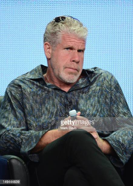 """Actor Ron Perlman speaks onstage at the """"Sons of Anarchy"""" panel during the FX portion of the 2012 Summer TCA Tour on July 28, 2012 in Beverly Hills,..."""