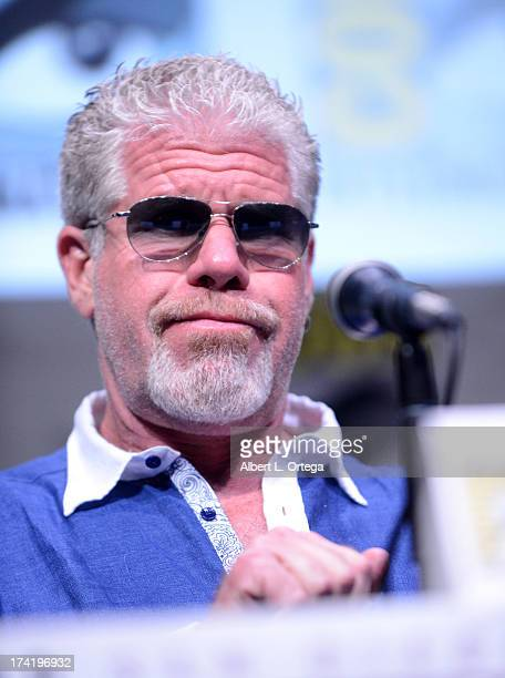 Actor Ron Perlman speaks onstage at the Sons Of Anarchy panel during ComicCon International 2013 at San Diego Convention Center on July 21 2013 in...