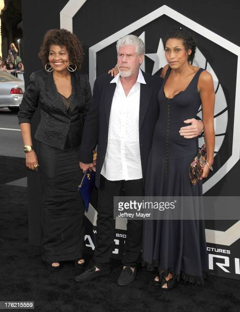 Actor Ron Perlman wife Opal Perlman and daughter Blake Perlman arrive at the 'Pacific Rim' Los Angeles Premiere at Dolby Theatre on July 9 2013 in...