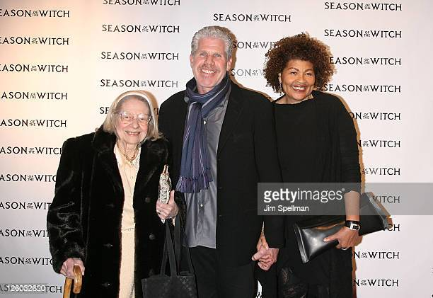 Actor Ron Perlman with mother and Opal Perlman attend the Season of the Witch premiere at AMC Loews Lincoln Square 13 theater on January 4 2011 in...