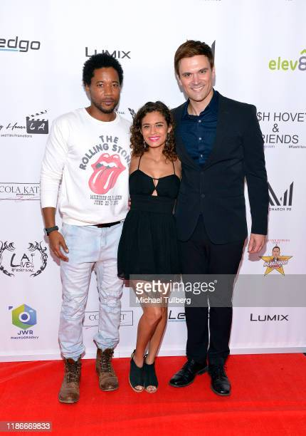 Actor Ron Robinson Zoe Madrid and producer Kash Hovey attend the Kash Hovey and Friends Film Block at Film Fest LA at Regal Cinemas LA LIVE Stadium...