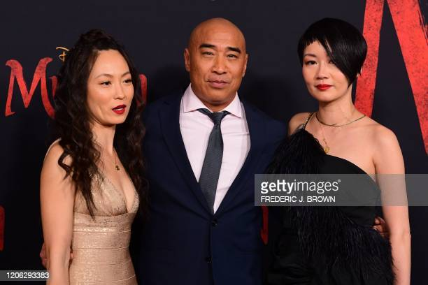 US actor Ron Yuan attends the world premiere of Disney's Mulan at the Dolby Theatre in Hollywood on March 9 2020