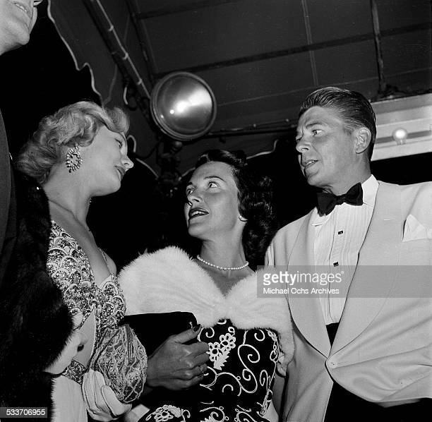 Actor Ronald Reagan and actress Nancy Davis attend the MGM premiere of 'David and Bathsheba' in Los AngelesCA