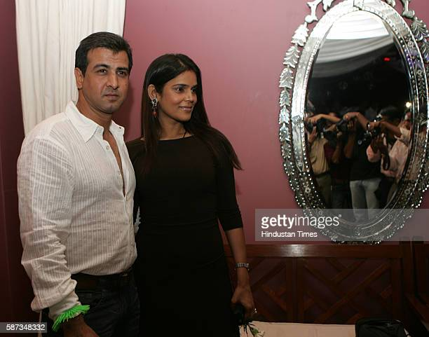 Actor Ronit Roy and Neelam Singh at Rahul Nanda's Party at High Street Pheonix Mumbai