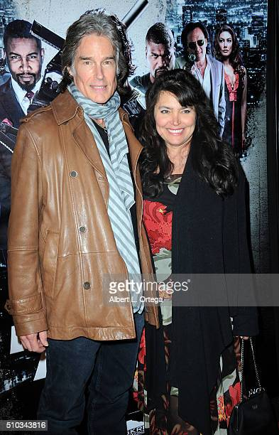 Actor Ronn Moss and wife/model Devin Devasquez arrive for the Screening Of Oscar Gold Productions' Vigilante Diaries held at ArcLight Hollywood on...