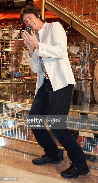 US actor Ronn Moss attends a photocall for the Italian TV show 'Ballando Con Le Stelle' at Auditorium RAI on January 8 2010 in Rome Italy
