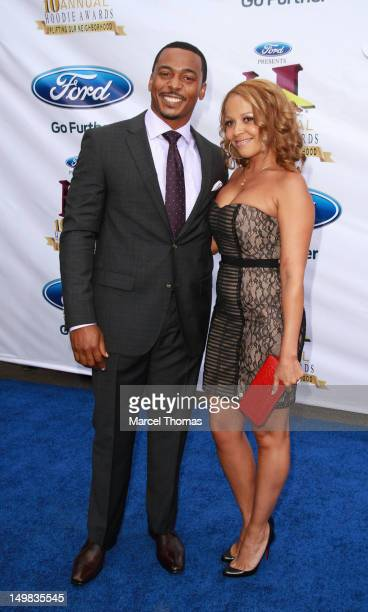 Actor RonReaco Lee and guest walk the blue carpet at the 10th Annual Ford Hoodie Awards at MGM Garden Arena on August 4, 2012 in Las Vegas, Nevada.