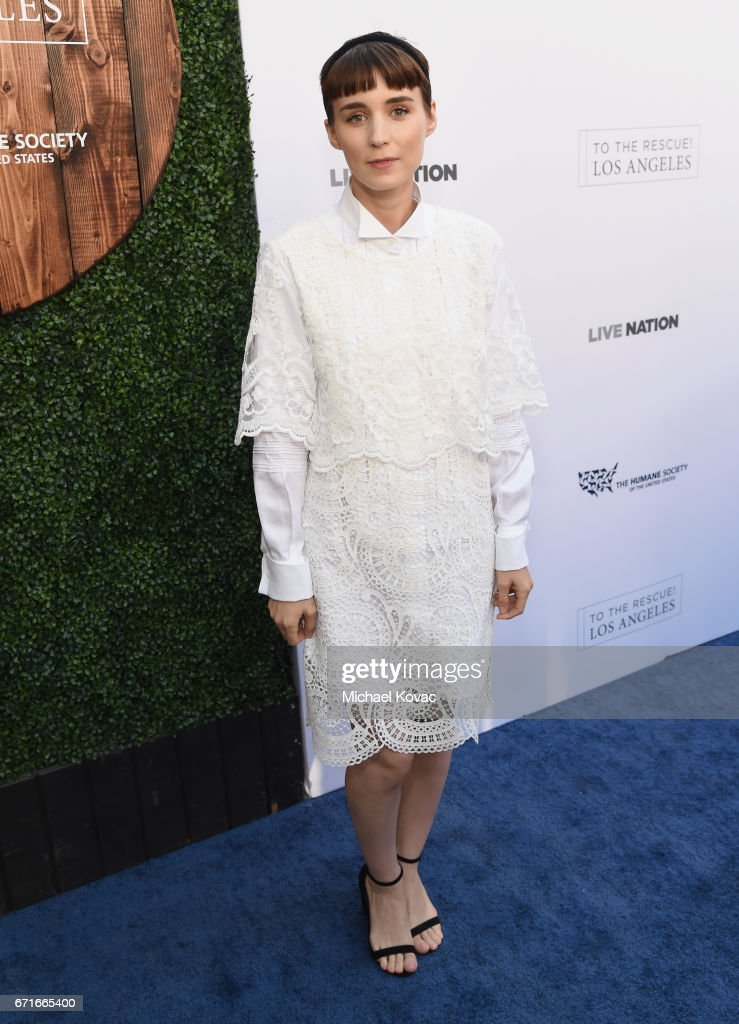 Actor Rooney Mara at The Humane Society of the United States' To the Rescue Los Angeles Gala at Paramount Studios on April 22, 2017 in Hollywood, California.