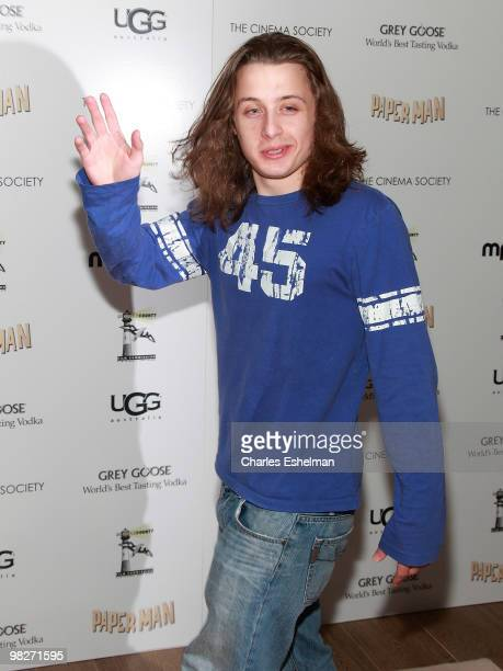 Actor Rory Culkin attends the Cinema Society with UGG Suffolk County Film Commission host a screening of 'Paper Man' at the Crosby Street Hotel on...