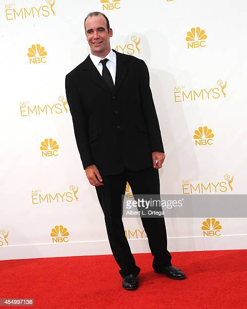 Actor Rory McCann arrives for the 66th Annual Primetime Emmy Awards held at Nokia Theatre LA Live on August 25 2014 in Los Angeles California