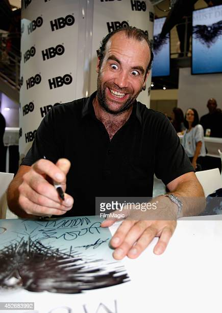 Actor Rory McCann attends HBO's 'Game of Thrones' cast autograph signing during ComicCon 2014 on July 25 2014 in San Diego California