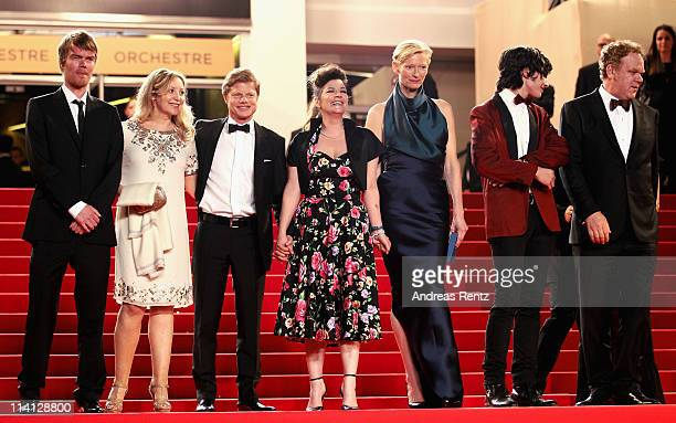 Actor Rory Stewart Kinnear guest producer Luc Roeg director/writer Lynne Ramsay actress Tilda Swinton actor Ezra Miller and actor John C Reillyarrive...