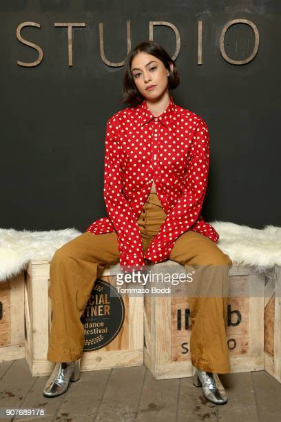 Actor Rosa Salazar from 'The Kindergarten Teacher' attends The IMDb Studio and The IMDb Show on Location at The Sundance Film Festival on January 20...