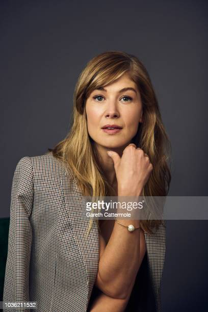 Actor Rosamund Pike from the film 'A Private War' poses for a portrait during the 2018 Toronto International Film Festival at Intercontinental Hotel...