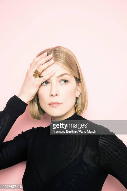 Actor Rosamund Pike is photographed for Paris Match in Paris on February 24, 2020.