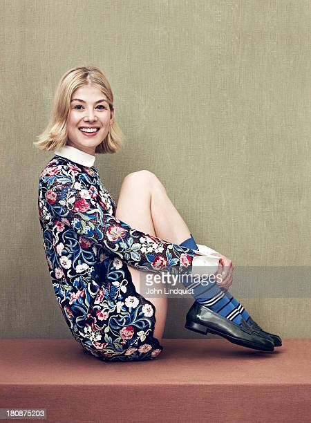 Actor Rosamund Pike is photographed for the Sunday Times on July 31 2013 in London England