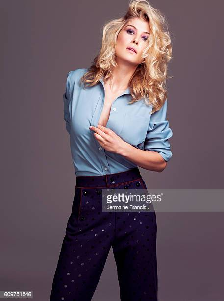 Actor Rosamund Pike is photographed for the Sunday Times on September 11 2011 in London England