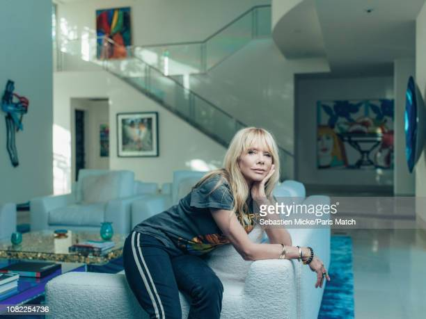 Actor Rosanna Arquette is photographed for Paris Match at home on November 10 2018 in Los Angeles United States