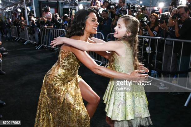 Actor Rosario Dawson and Isabella Kai Rice attend the premiere of Warner Bros Pictures' Unforgettable at TCL Chinese Theatre on April 18 2017 in...