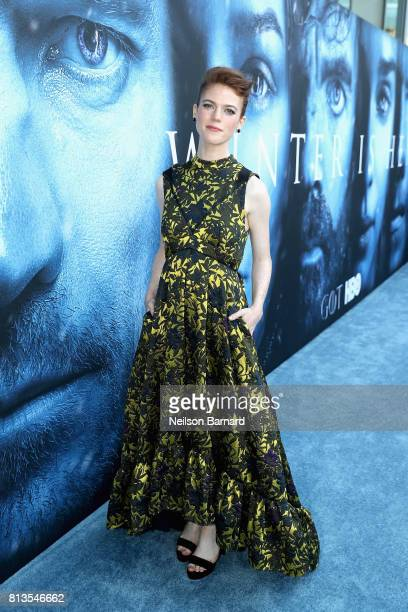 Actor Rose Leslie attends the premiere of HBO's 'Game Of Thrones' season 7 at Walt Disney Concert Hall on July 12 2017 in Los Angeles California