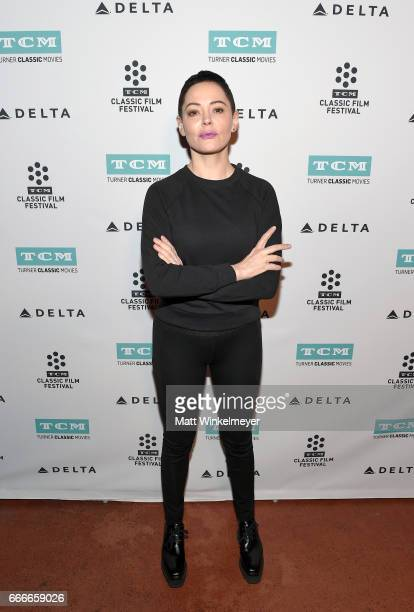 Actor Rose McGowan attends the screening of 'Lady in the Dark' during the 2017 TCM Classic Film Festival on April 9 2017 in Los Angeles California...