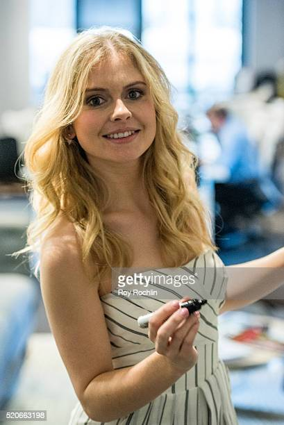 Actor Rose McIver discusses her show iZombie with AOL Build at AOL Studios In New York on April 12 2016 in New York City